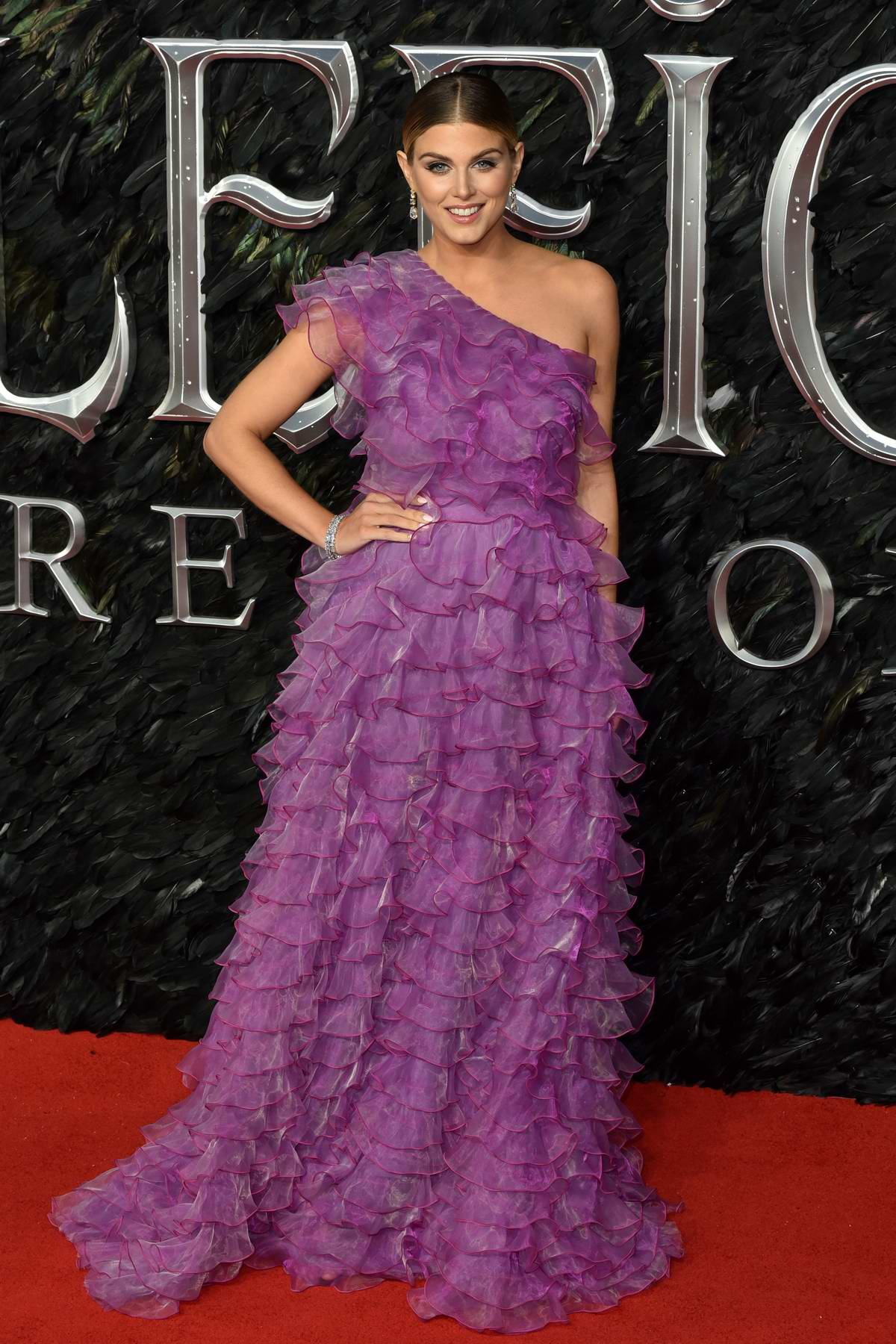 Ashley James attends the European Premiere of Maleficent: Mistress of Evil at IMAX Waterloo in London, UK