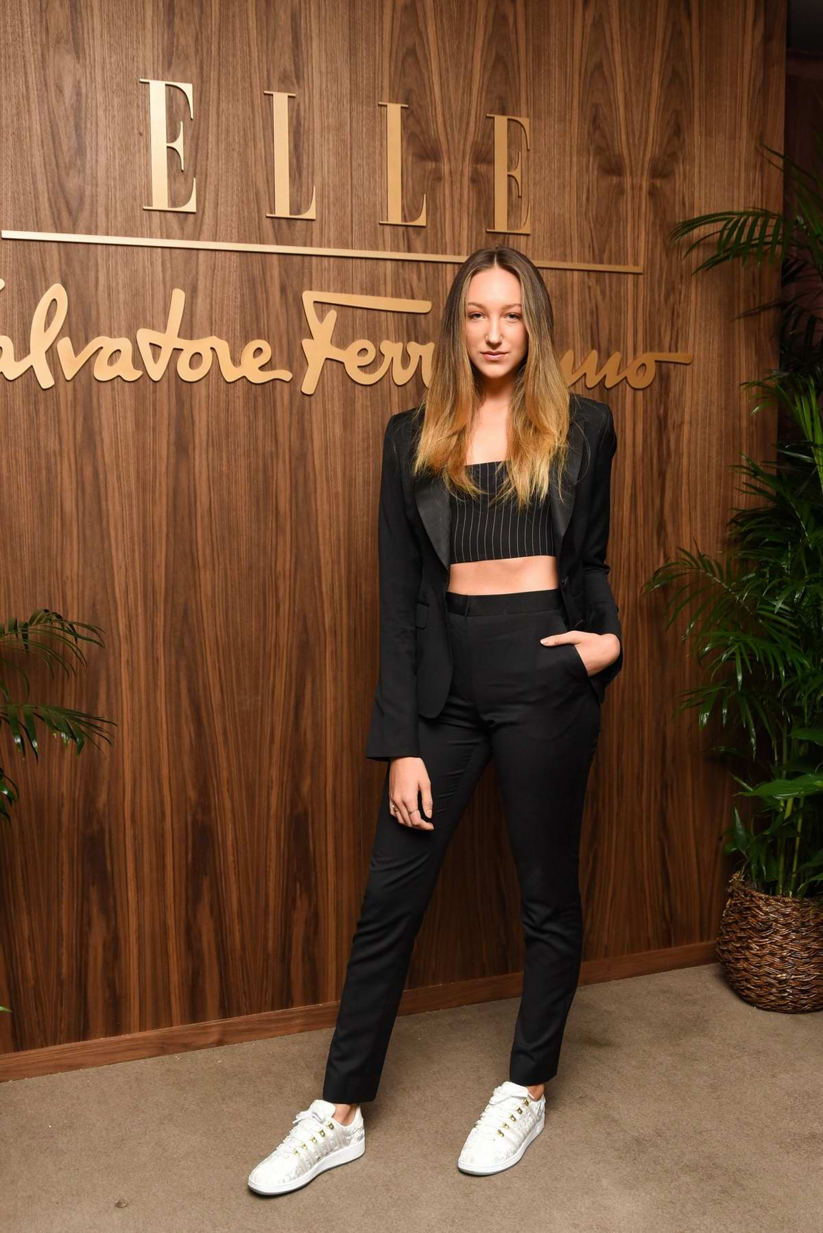 Ava Michelle attends ELLE x Ferragamo Hollywood Rising Party at Sunset Tower in Los Angeles