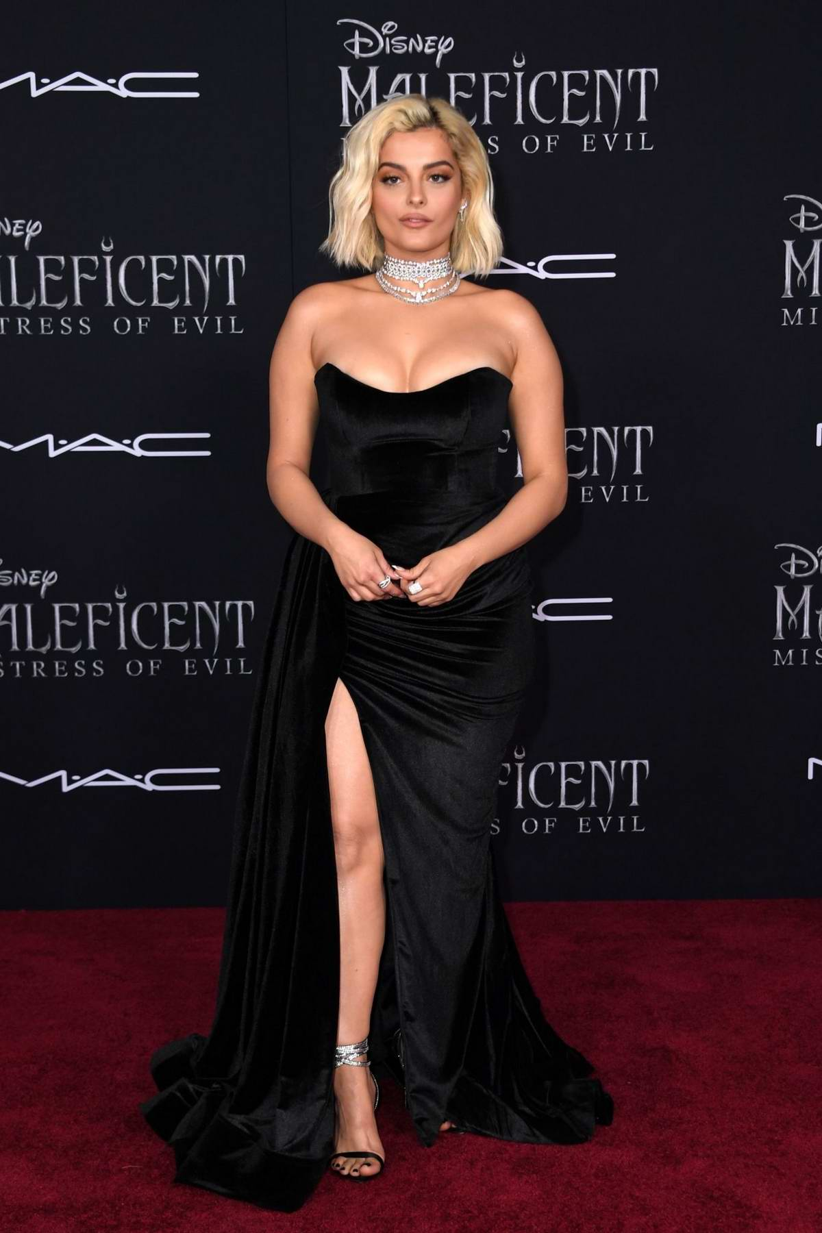 Bebe Rexha attends the World Premiere of Disney's 'Maleficent: Mistress of Evil' at El Capitan Theatre in Los Angeles