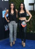 Brie and Nikki Bella attend WWE 20th Anniversary Celebration Marking Premiere of WWE Friday Night SmackDown On FOX in Los Angeles