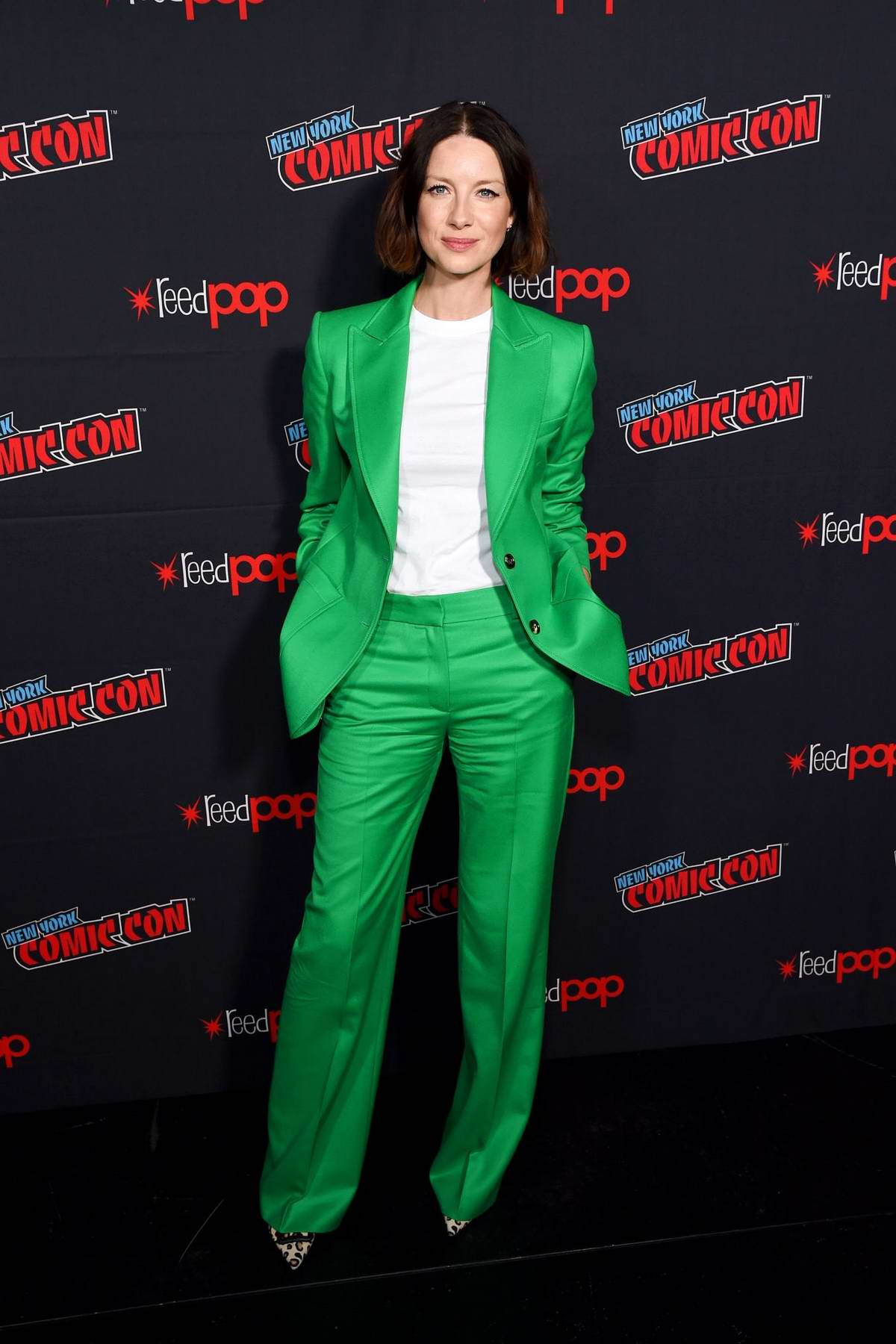 Caitriona Balfe attends Starz's 'Outlander' Panel during the 2019 New York Comic Con in New York City