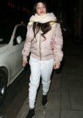 Camila Cabello smiles for camera while leaving Nobu restaurant in Mayfair, London, UK