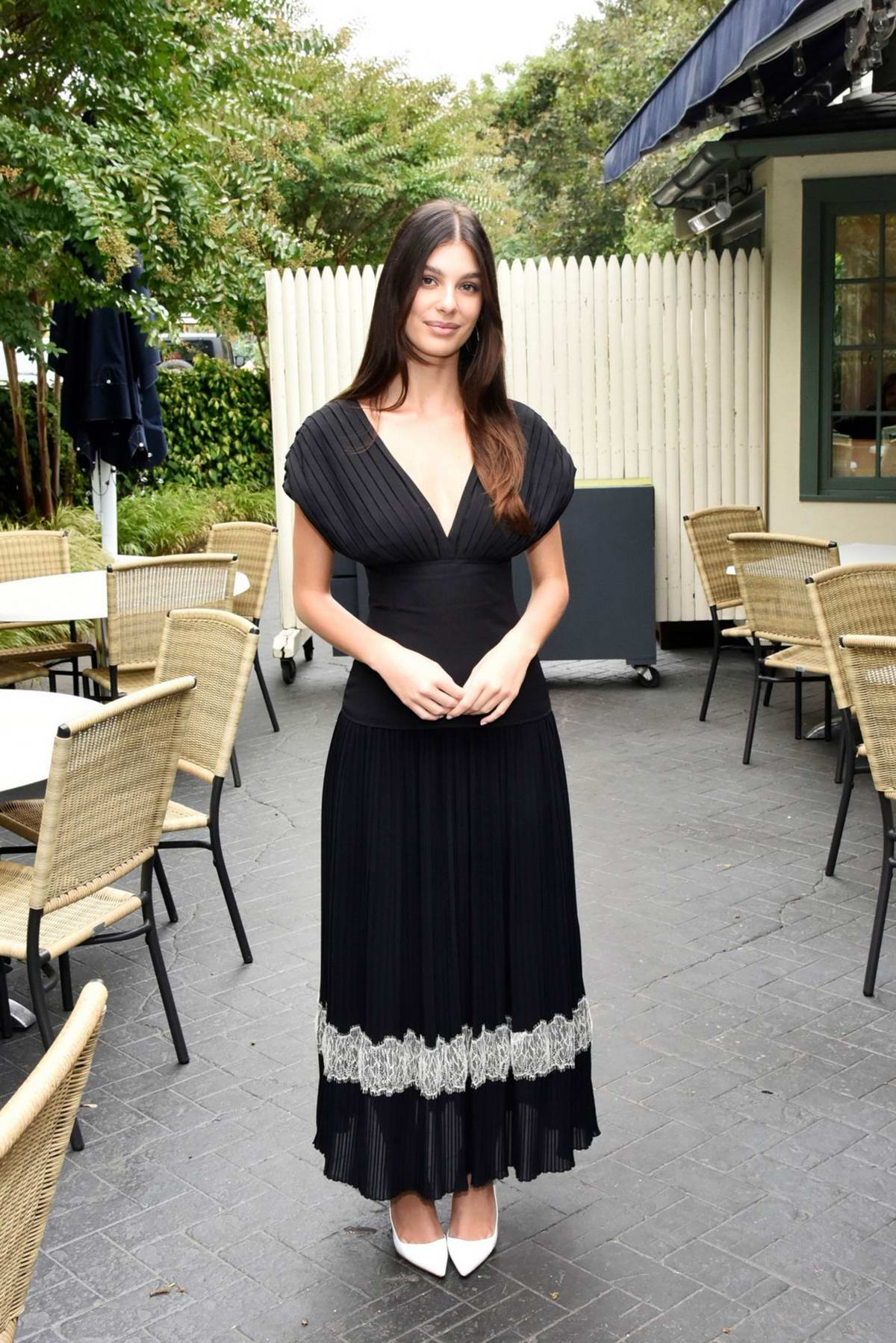 Camila Morrone attends the Breakthrough Artists Brunch during the 2019 Hamptons International Film Festival in The Hamptons, New York