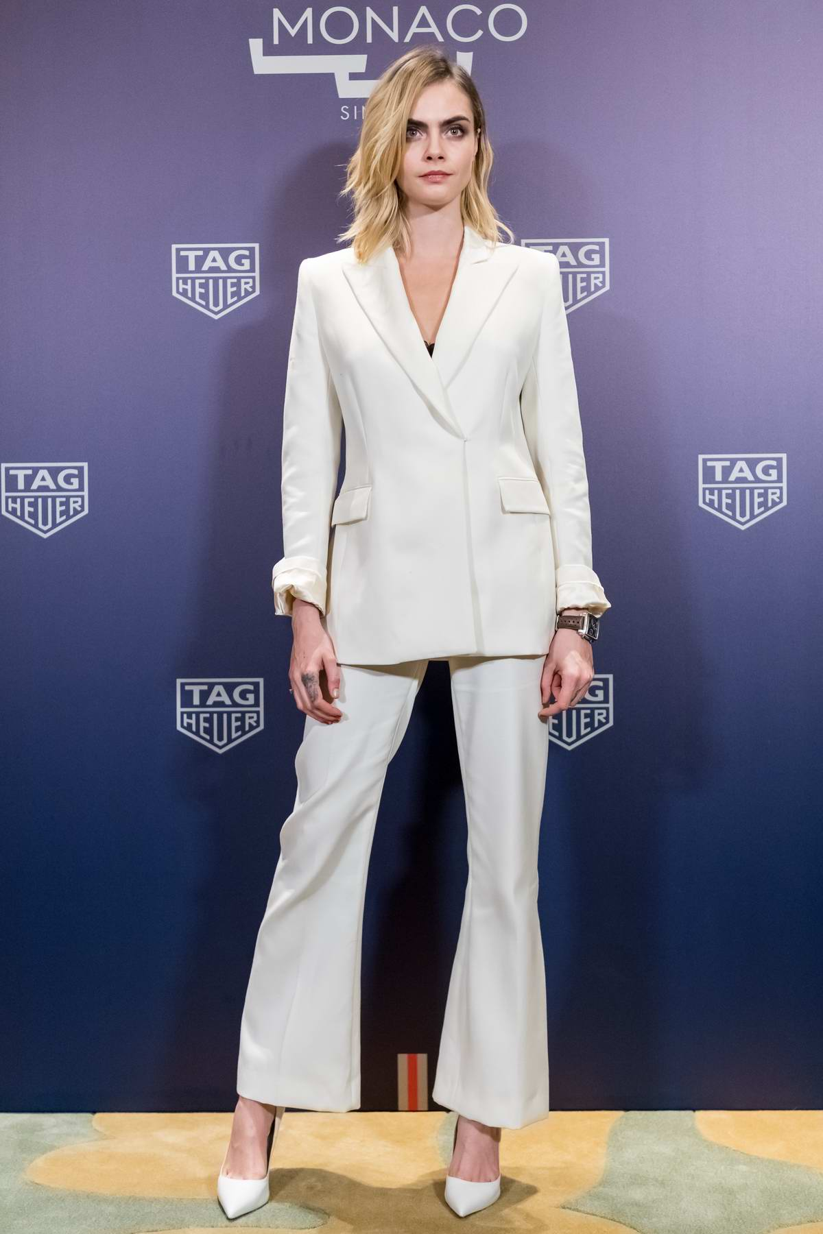 Cara Delevingne attends TAG Heuer photocall in Shanghai, China