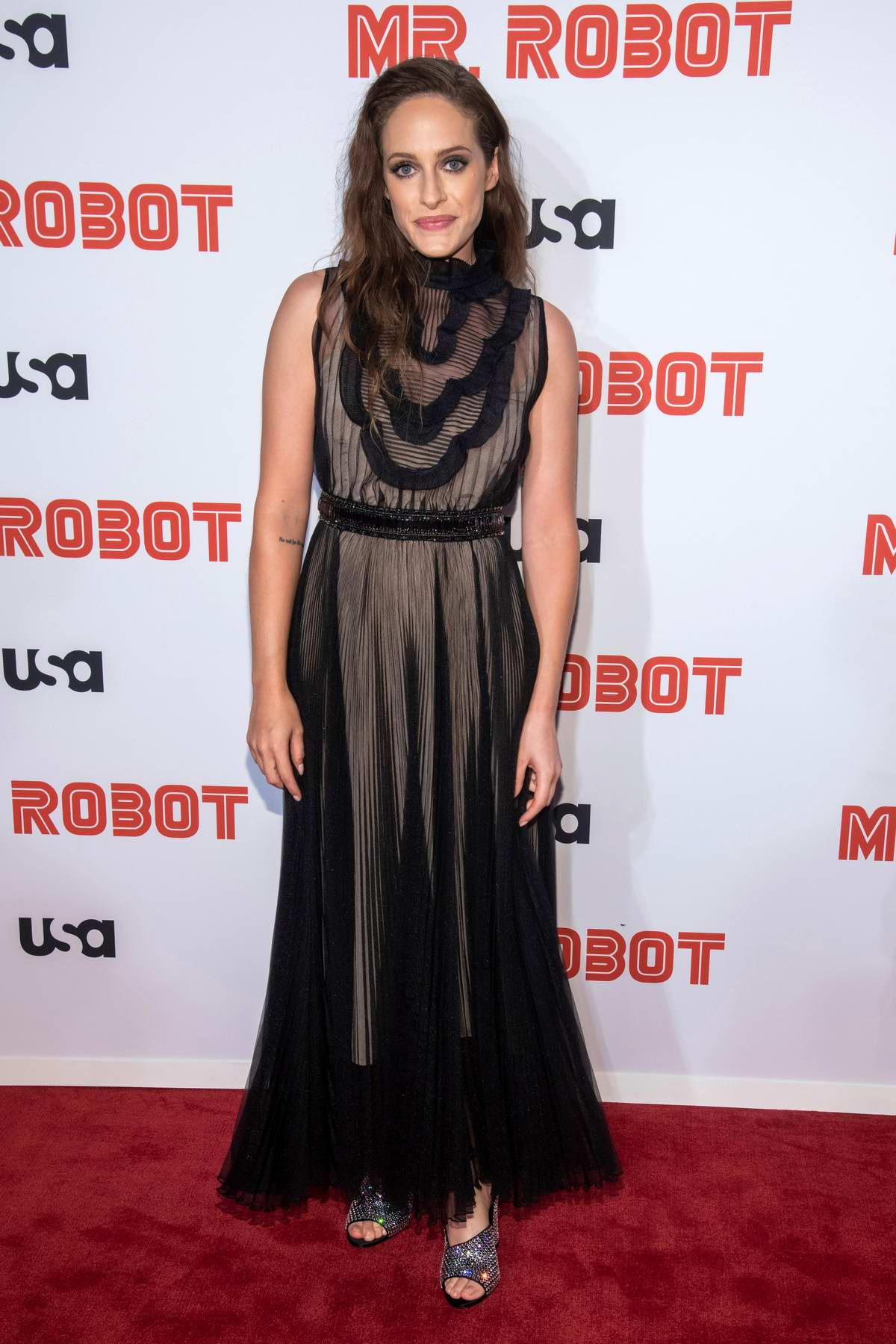 Carly Chaikin attends 'Mr Robot' Season 4 premiere at Village East Cinema in New York City