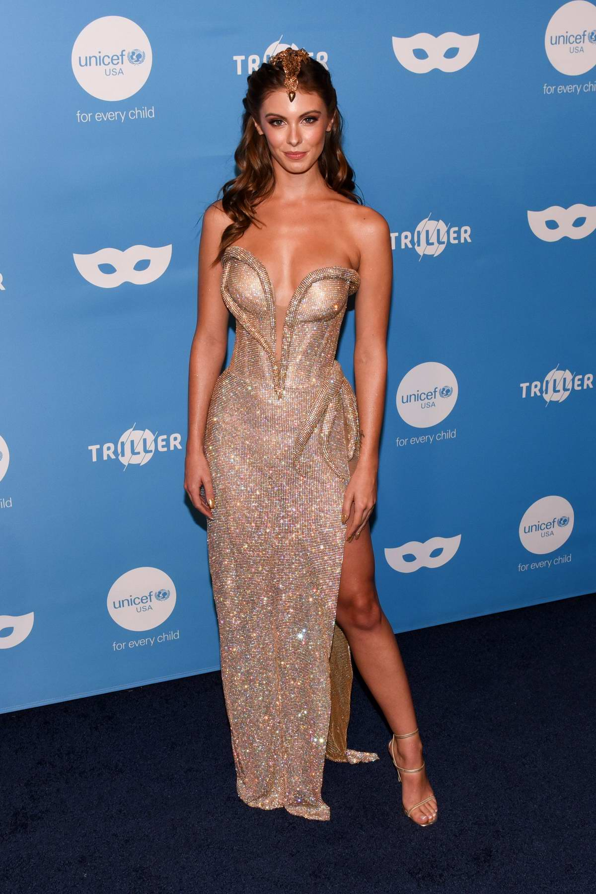 Carmella Rose attends the UNICEF Masquerade Ball 2019 in West Hollywood, Los Angeles