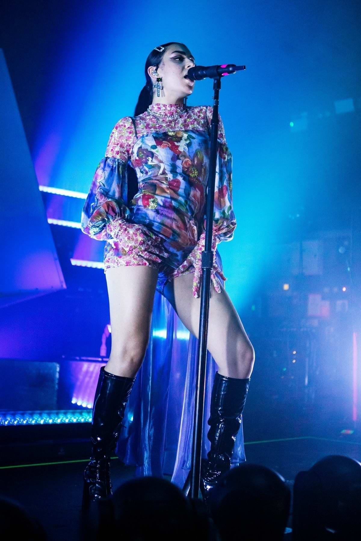 Charli XCX performs on stage at The O2 Institute Birmingham, UK