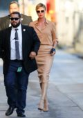Charlize Theron makes a stylish arrival for her appearance on Jimmy Kimmel Live! in Hollywood, California