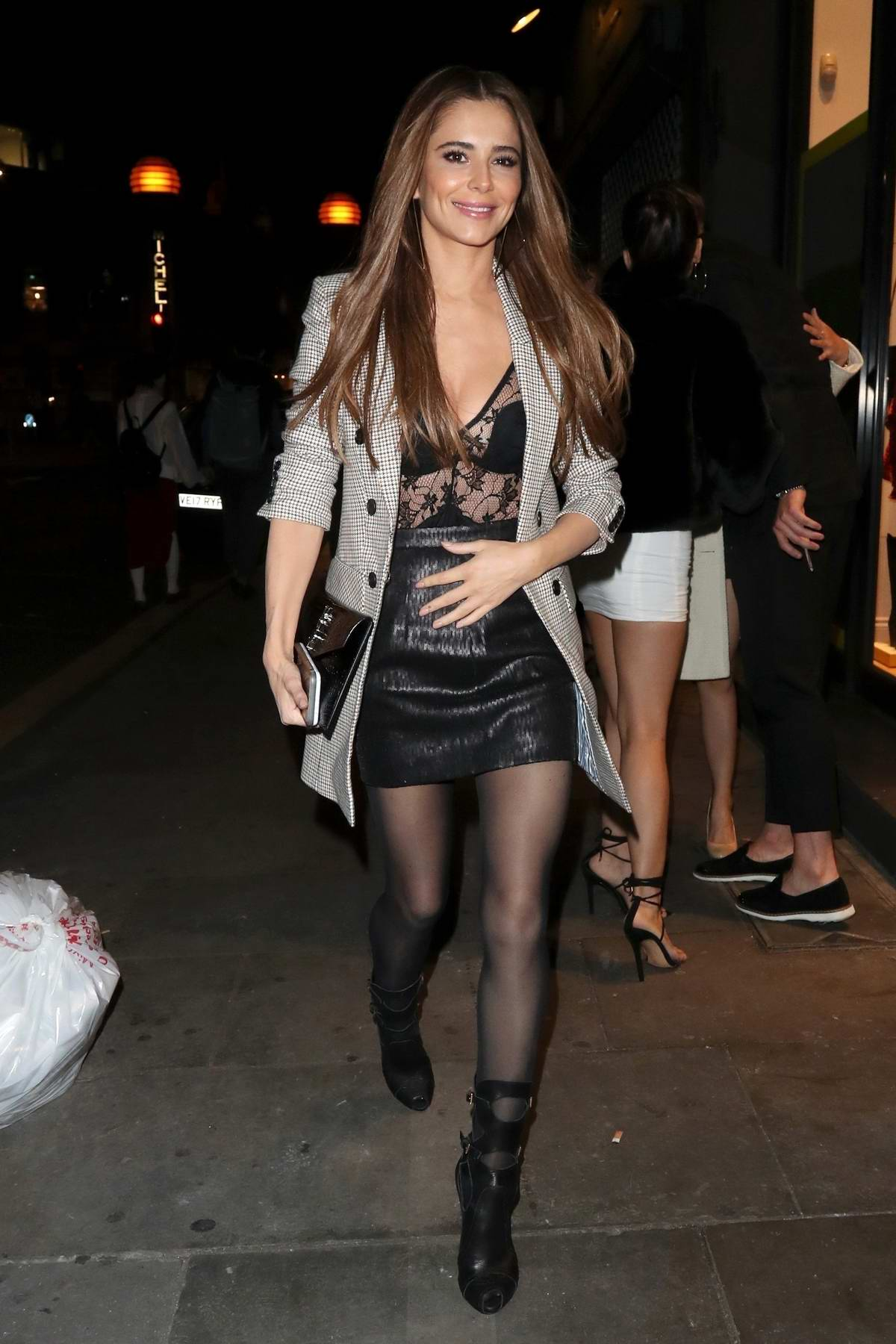 Cheryl Tweedy attends Nicola Roberts' 34th birthday party at Ours Restaurant in London, UK