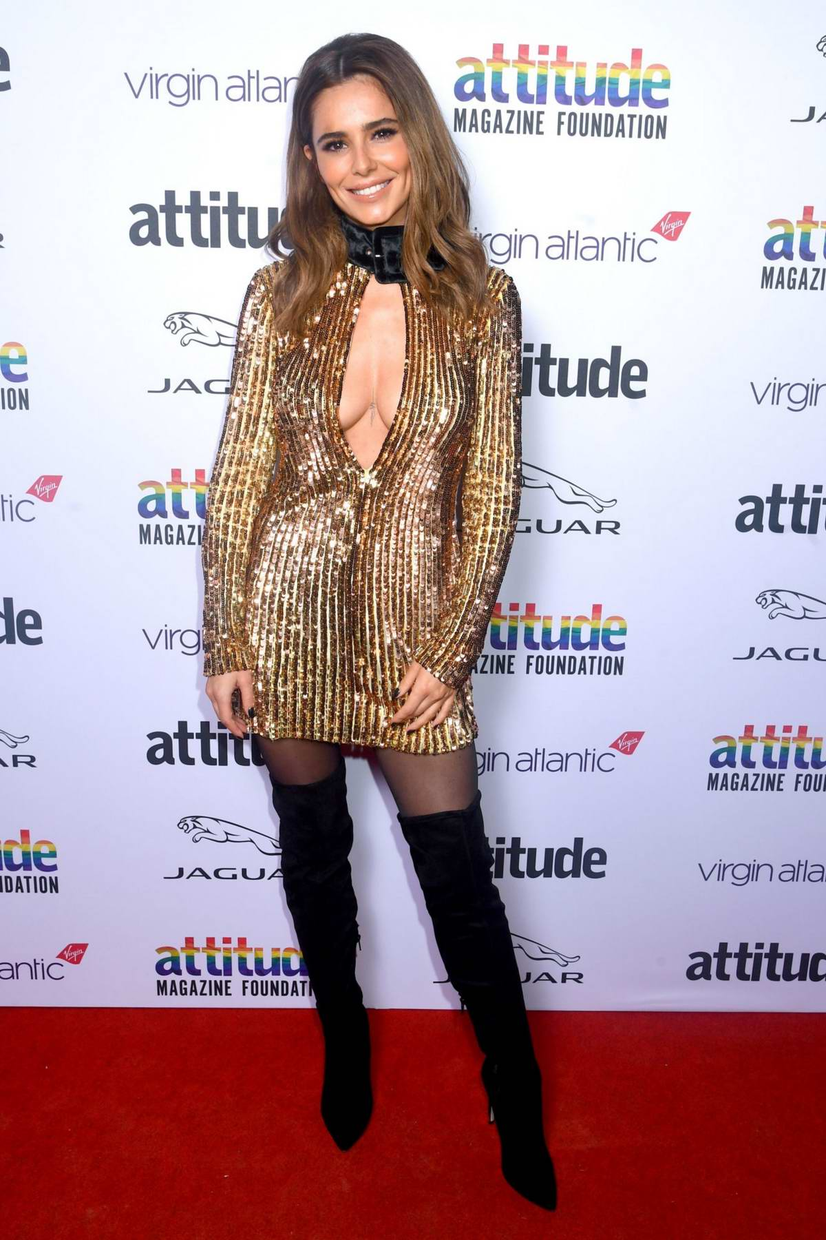 Cheryl Tweedy attends the Virgin Atlantic Attitude Awards 2019 at The Roundhouse in London, UK