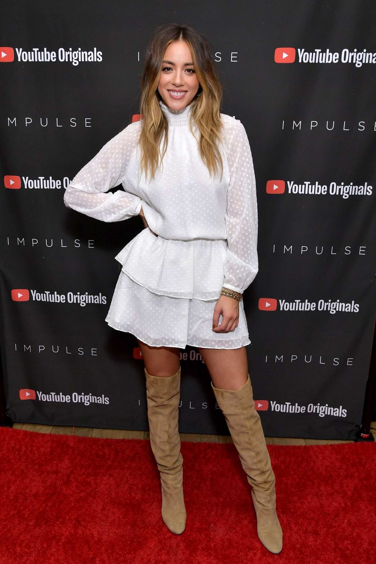 Chloe Bennet attends Youtube Originals hosts a special screening of Impulse Season 2 in West Hollywood, Los Angeles