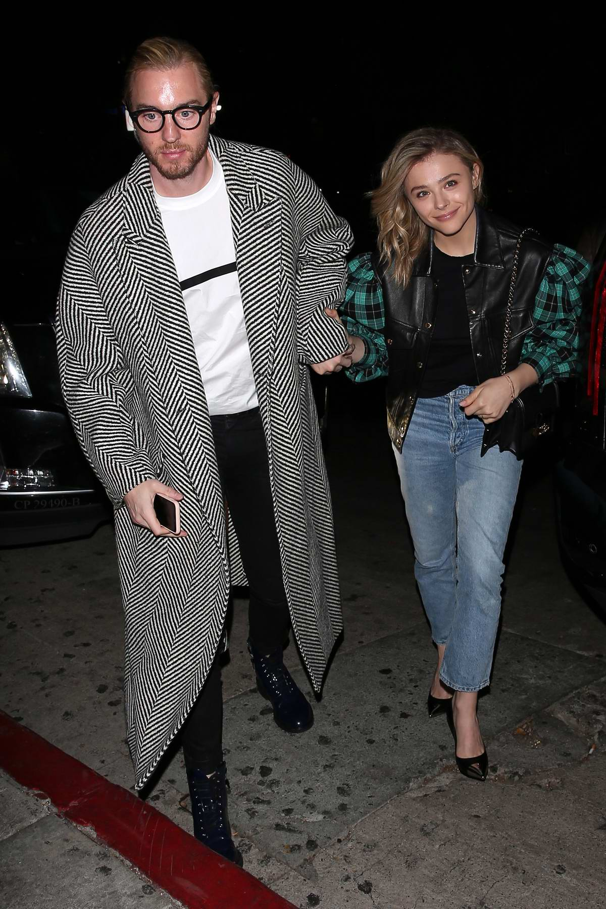 Chloe Grace Moretz and her brother Trevor arrives for a private 'Louis Vuitton' Dinner in West Hollywood, Los Angeles