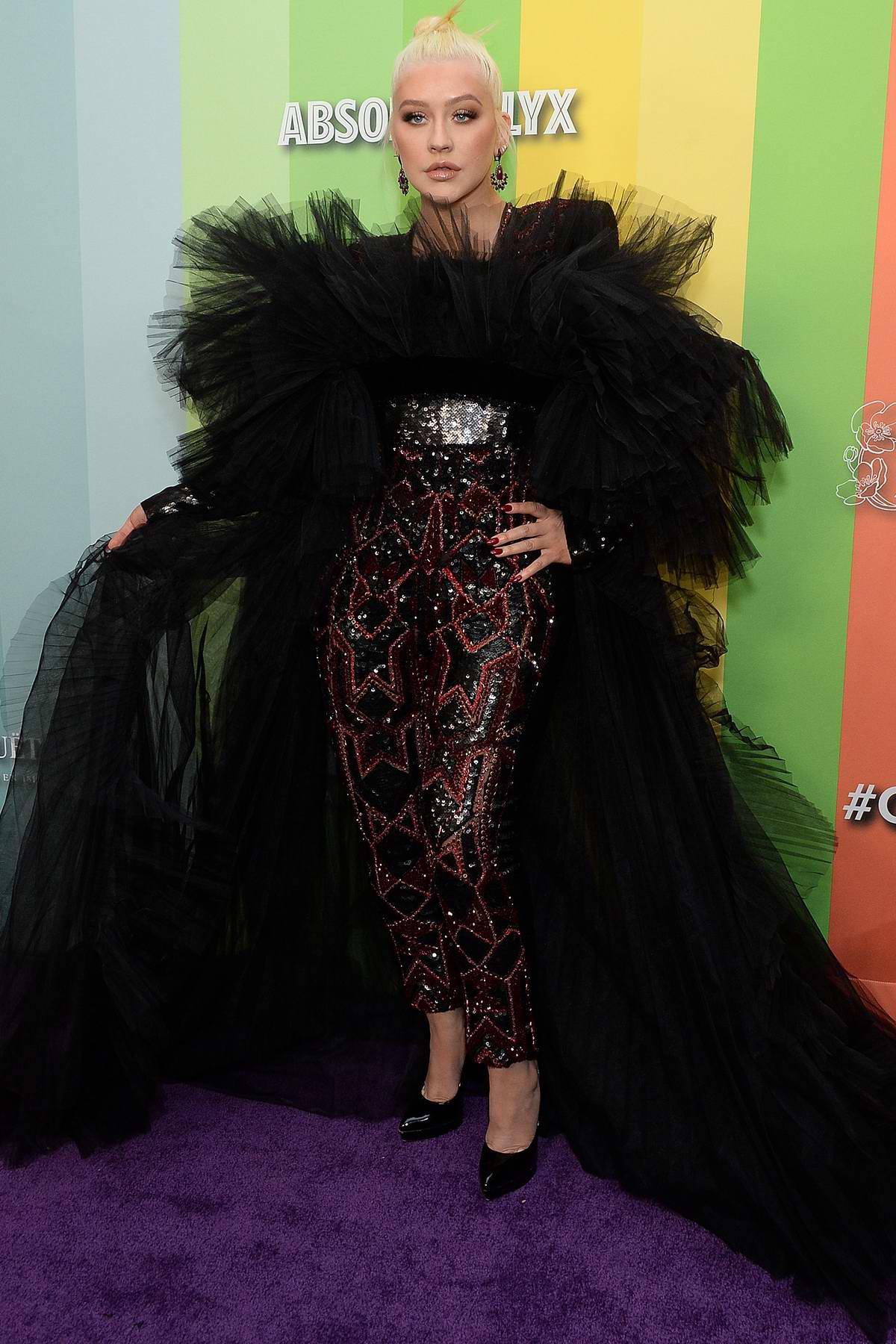 Christina Aguilera attends the 2019 amfAR Inspiration Gala at Milk Studios in Los Angeles
