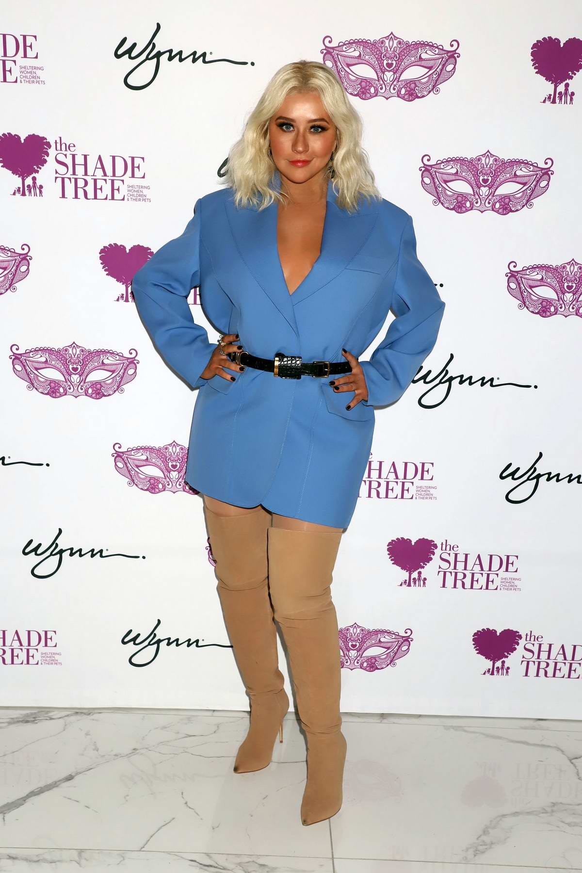 Christina Aguilera honored at 'Mask Off Gala' in Las Vegas, Navada