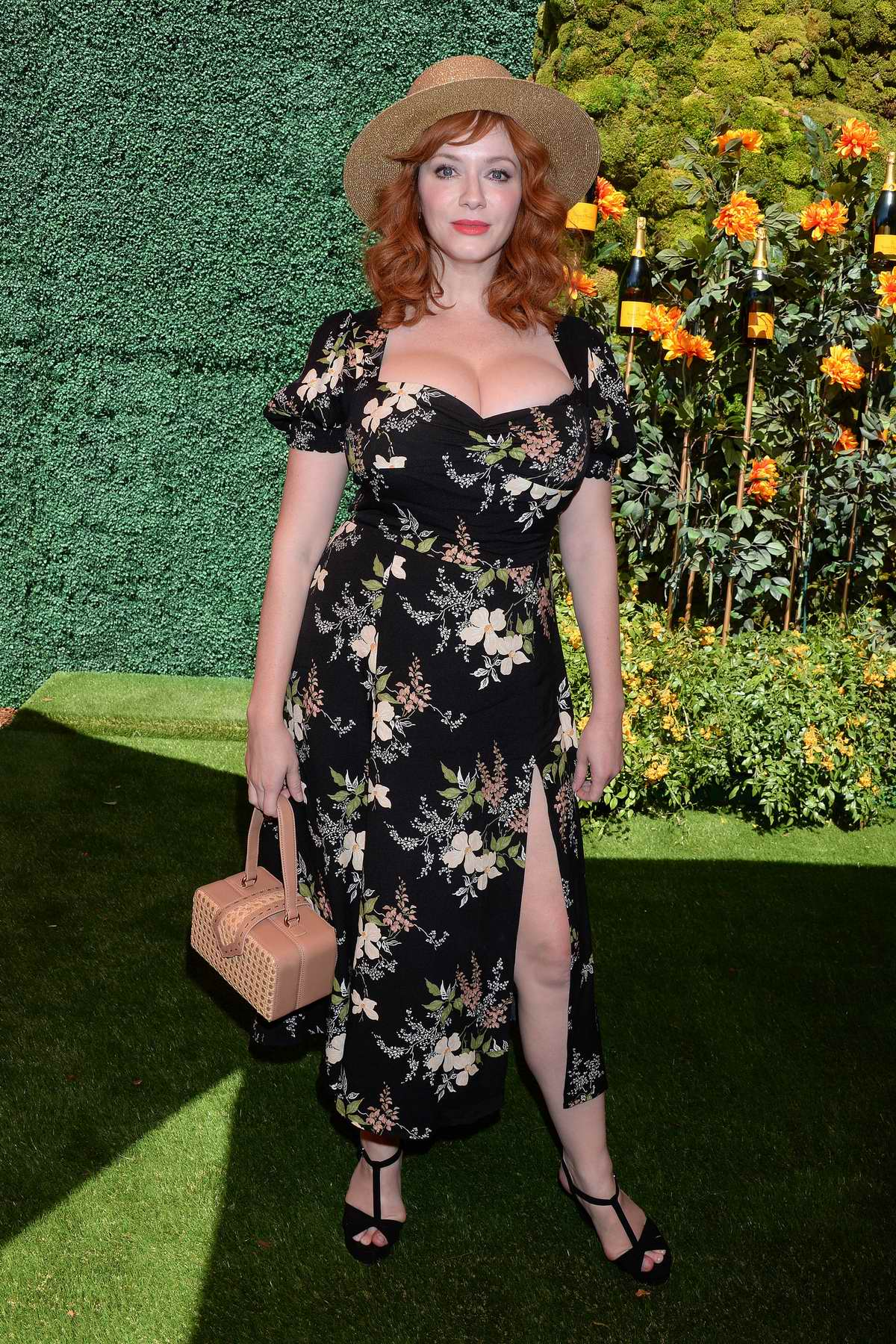 Christina Hendricks attends the 10th annual Veuve Clicquot Polo Classic at Will Rogers State Park in Los Angeles