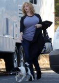 Christina Hendricks back at work after announcing separation from her husband, Los Angeles