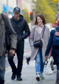 Claire Foy and Matt Smith are all smiles as they step out for a stroll together in London, UK