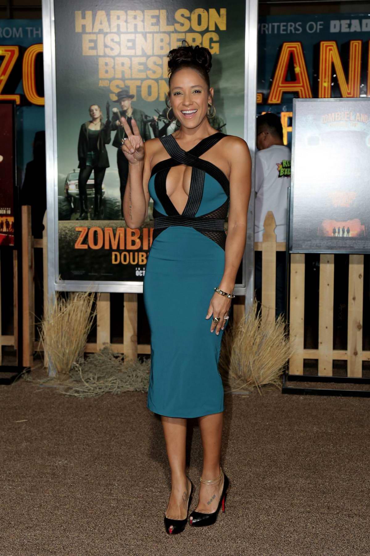 Dania Ramirez attends 'Zombieland: Double Tap' premiere at Regency Village Theater in Westwood, California