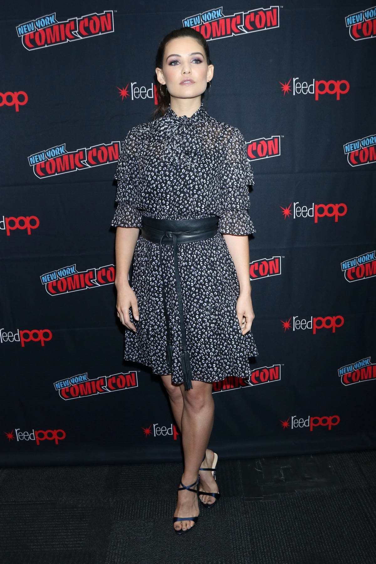 Danielle Campbell attends the press room for 'Tell Me a Story' during New York Comic Con 2019 in New York City