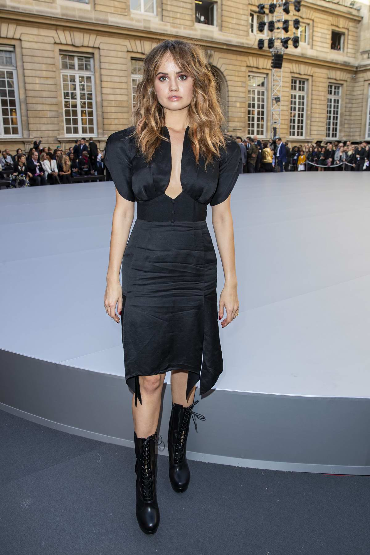 Debby Ryan attends 'Le Defile L'Oreal Paris' show during Paris Fashion Week in Paris, France