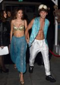Delilah Hamlin and Eyal Booker attend the HallowZeem Party at M Restaurant in London, UK