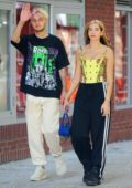 Dua Lipa and Anwar Hadid enjoy an afternoon stroll after lunch in New York City