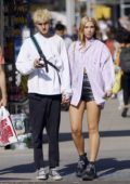 Dua Lipa sports a new blonde look as she steps out with Anwar Hadid in New York City