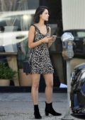 Eiza Gonzalez looks great in an animal print dress as she steps out in Los Angeles