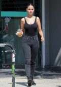 Eiza Gonzalez rocks a black tank top and skin-tight jeans as she leaves a Nail Salon in Los Angeles