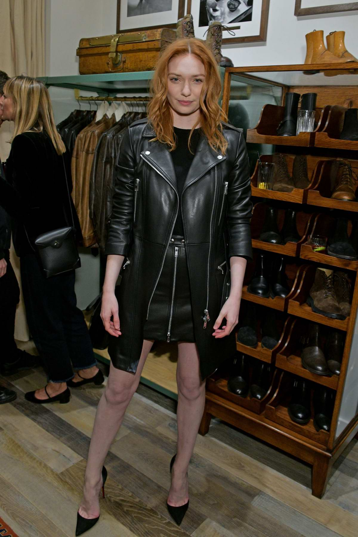 Eleanor Tomlinson attends the Belstaff Flagship Opening on Regent Street in London, UK