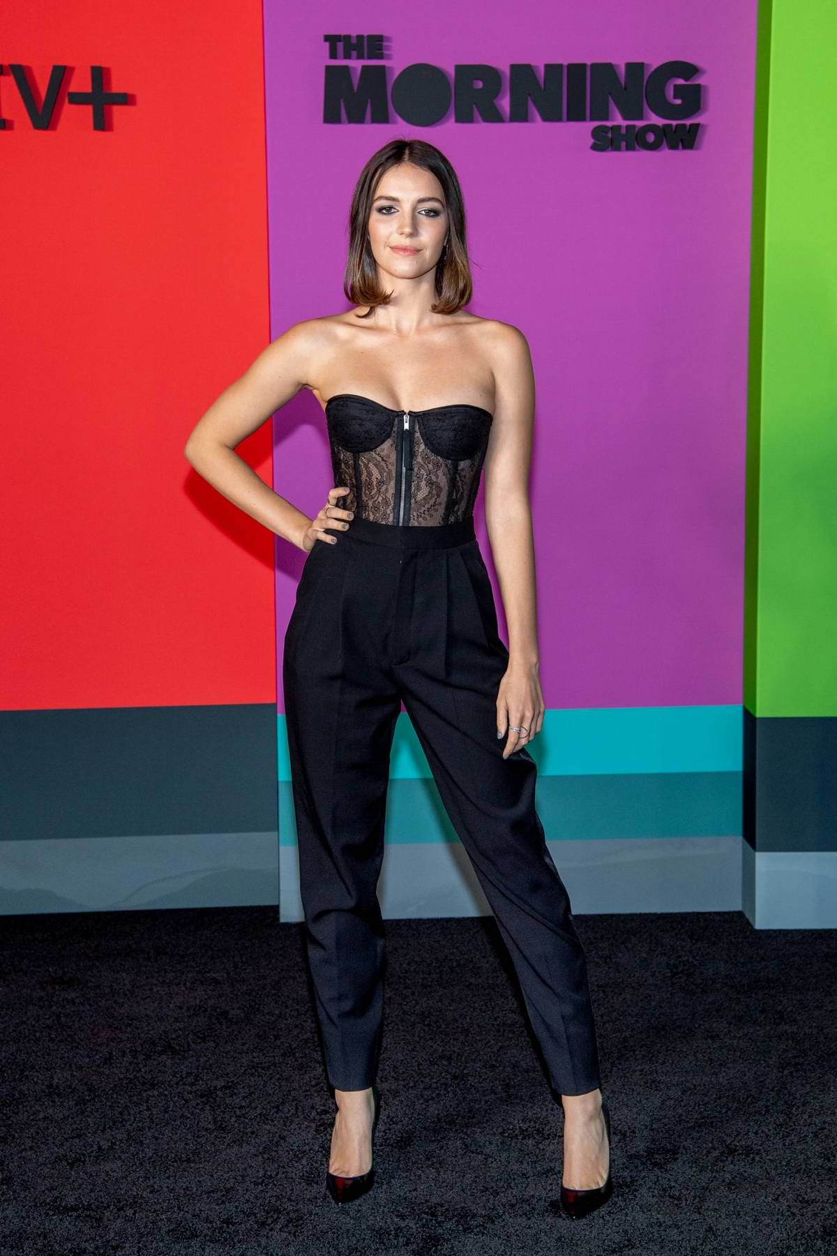 Ella Hunt attends the Premiere of Apple TV+'s 'The Morning Show' at Lincoln Center in New York City