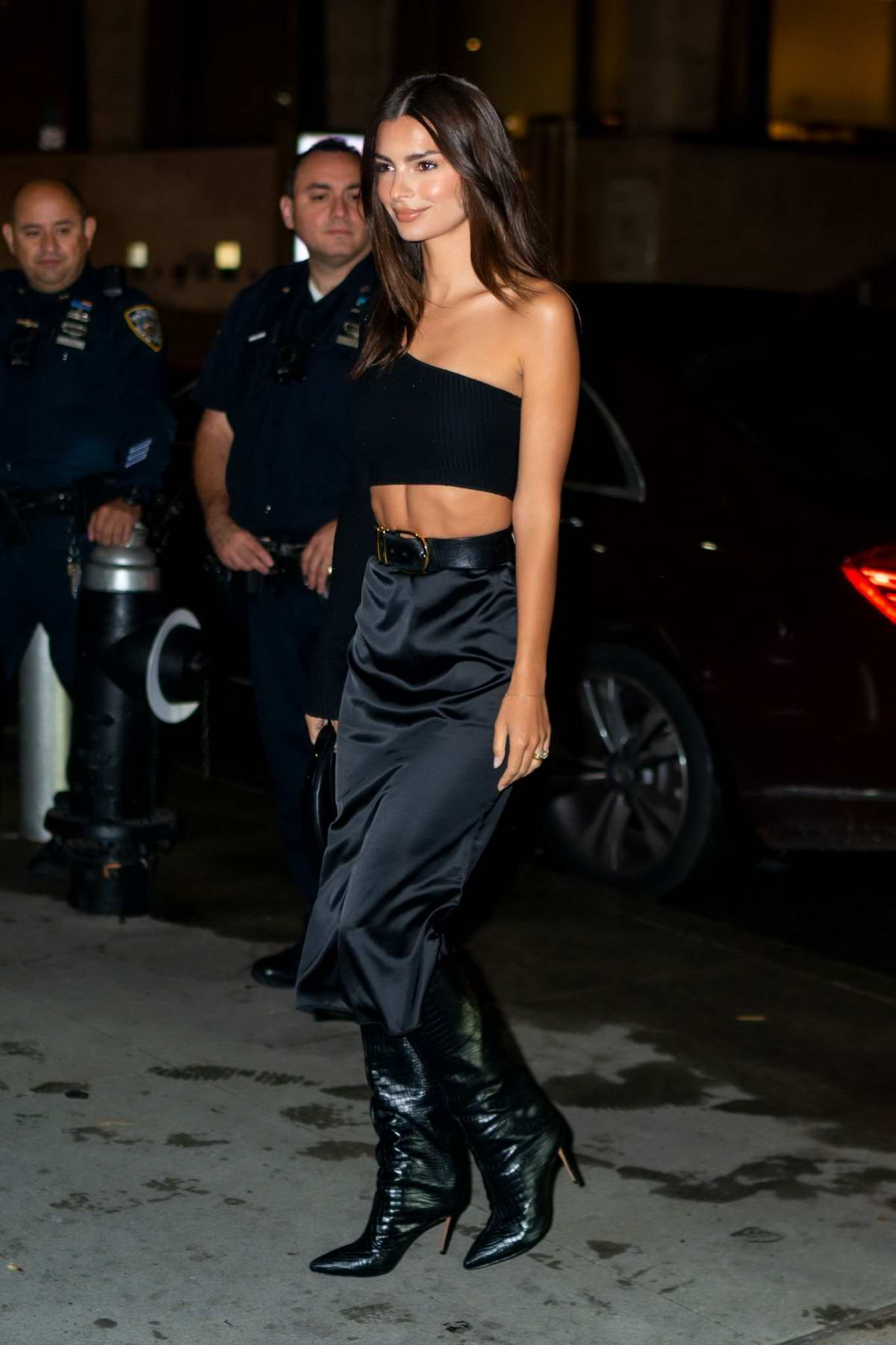 Emily Ratajkowski attends the screening for 'Uncut Gems' During the 57th New York Film Festival in New York City