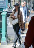 Emily Ratajkowski steps out wearing a brown blazer in New York City
