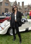 Emily Ratajkowski unveils the Bugatti Chiron at Audrain's The Gathering at Rough Point in Newport, Rhode Island