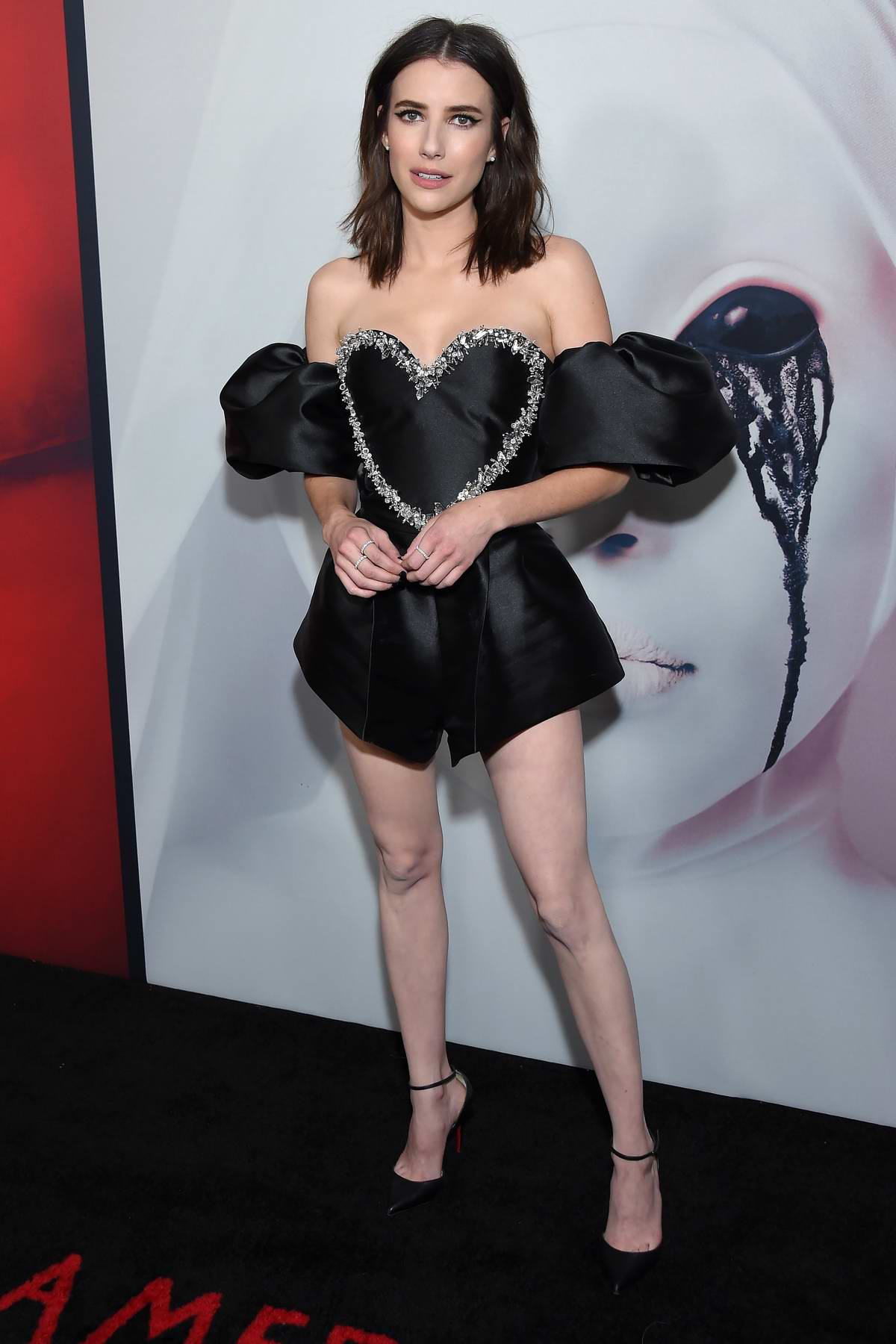 Emma Roberts attends FX's 'American Horror Story' 100th Episode Celebration at Hollywood Forever in Los Angeles