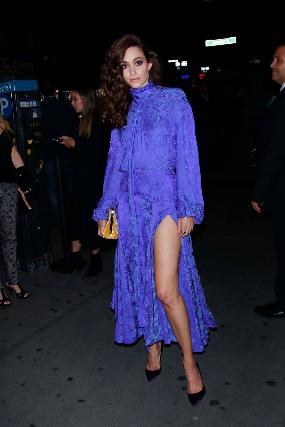 Emmy Rossum attends at Prime Video 'Museum Of Modern Love' Pop up event in New York City
