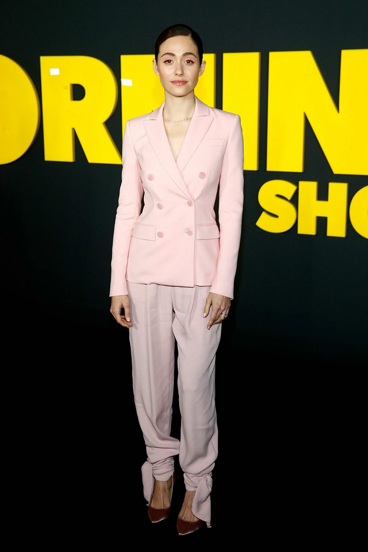 Emmy Rossum attends the Premiere of Apple TV+'s 'The Morning Show' at Lincoln Center in New York City