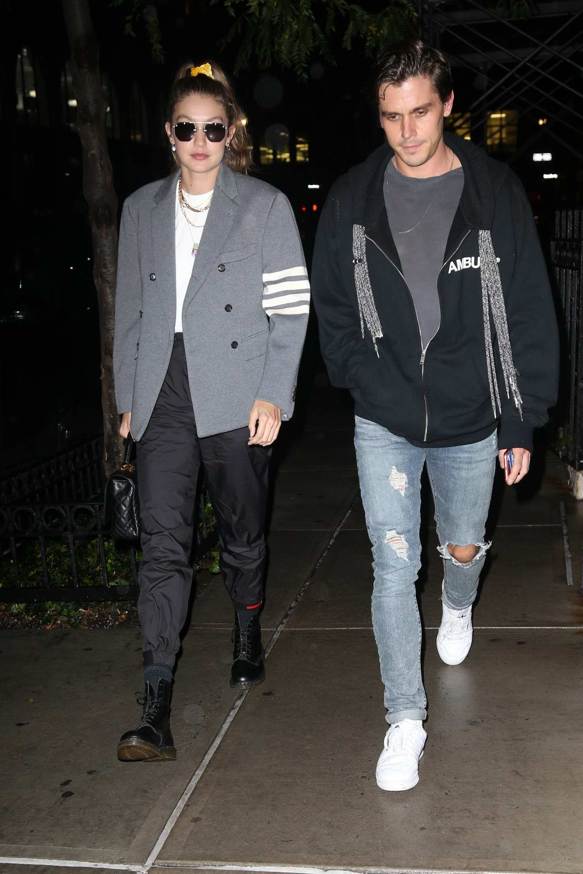 Gigi Hadid and Antoni Porowski spotted during a night out in New York City