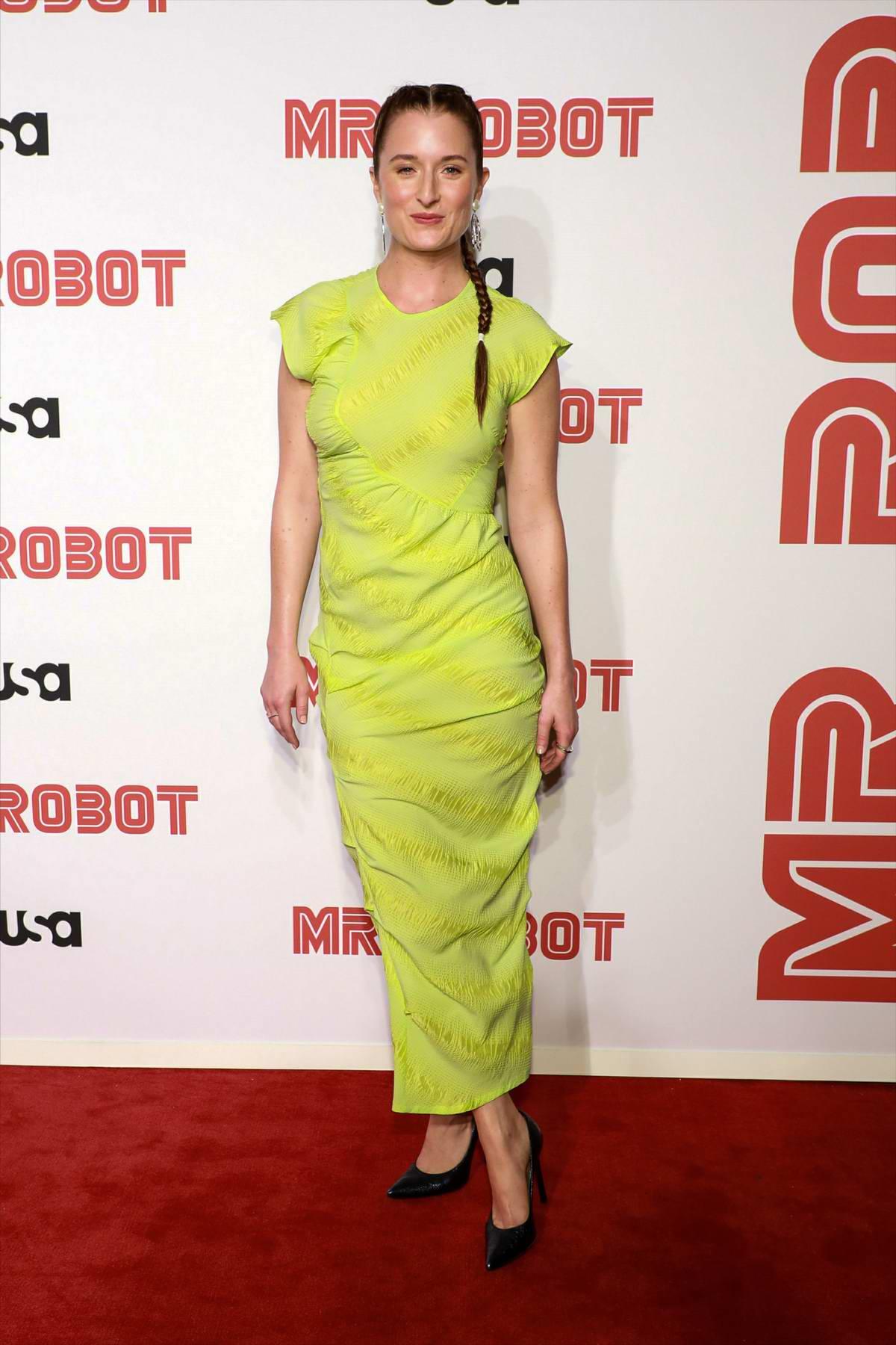 Grace Gummer attends 'Mr Robot' Season 4 premiere at Village East Cinema in New York City