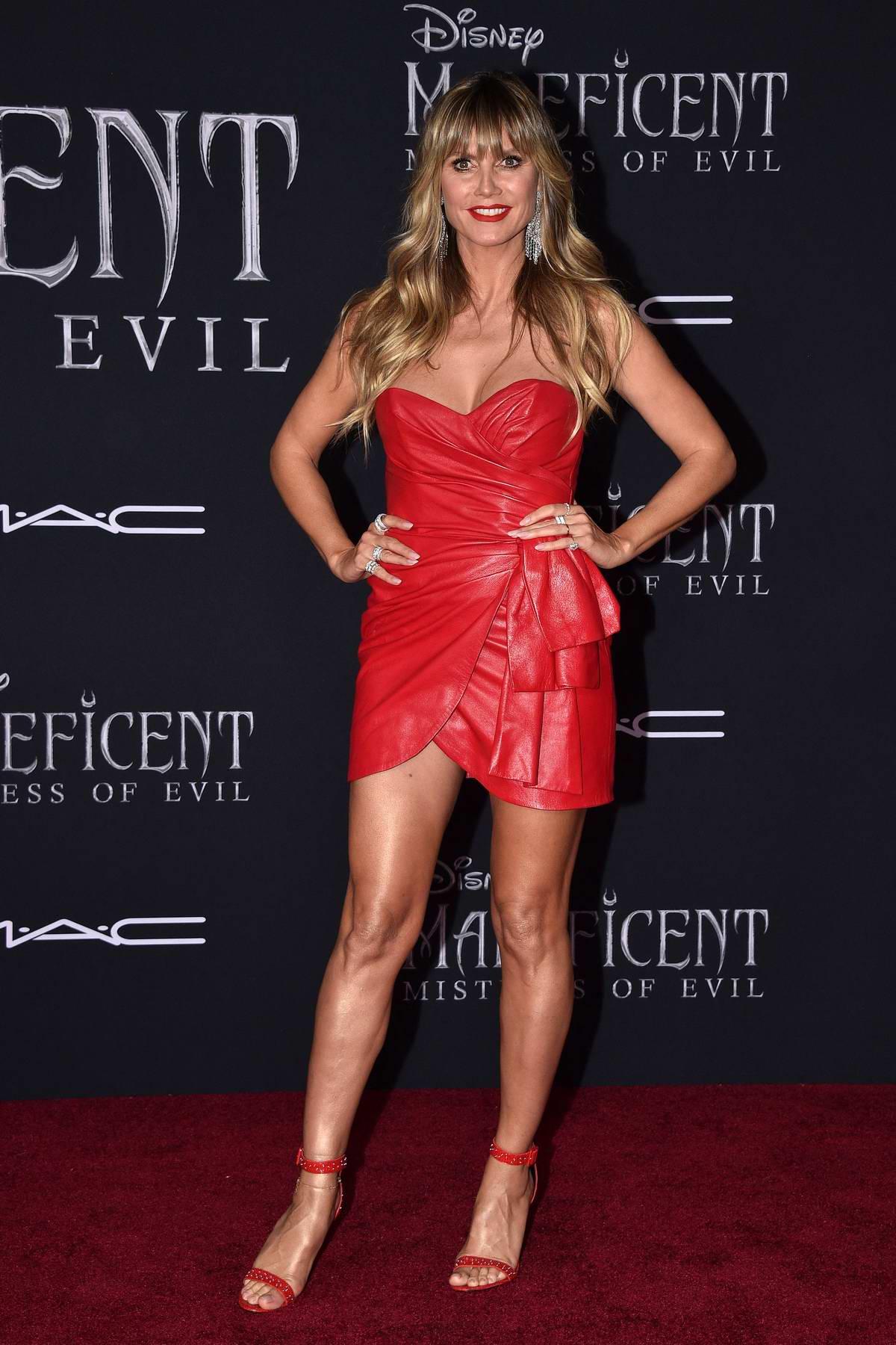 Heidi Klum attends the World Premiere of Disney's 'Maleficent: Mistress of Evil' at El Capitan Theatre in Los Angeles
