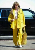 Heidi Klum stands out in bright yellow while heading at 'America's Got Talent' Finals in Pasadena, California