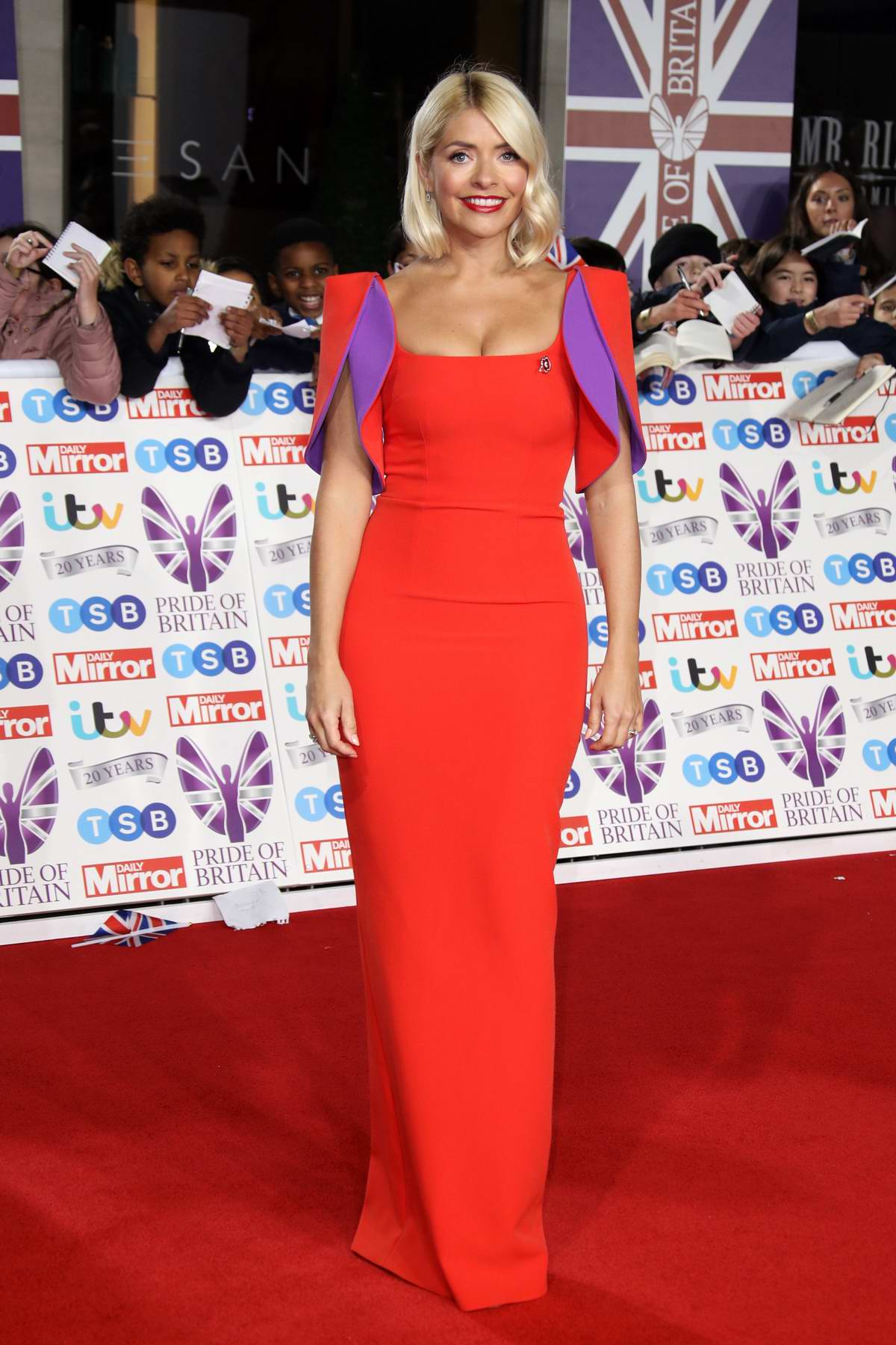 Holly Willoughby attends the Pride of Britain Awards 2019 at Grosvenor House in London, UK