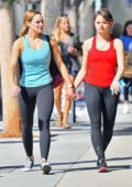 Hunter King and Joey King head out for coffee after a workout in Studio City, Los Angeles