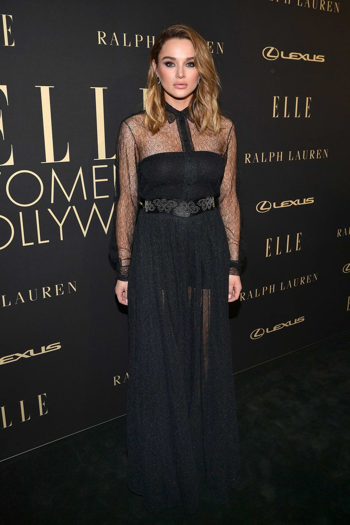 Hunter King attends ELLE's 26th Annual Women In Hollywood Celebration at The Four Seasons Hotel in Beverly Hills, California