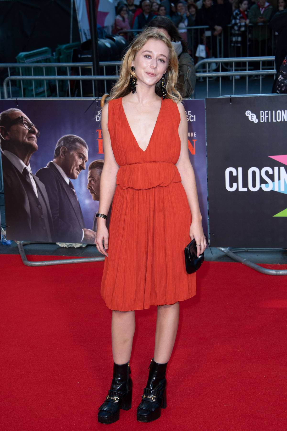 India Ennenga attends the Premier of 'The Irishman' during the 63rd BFI London Film Festival in London, UK