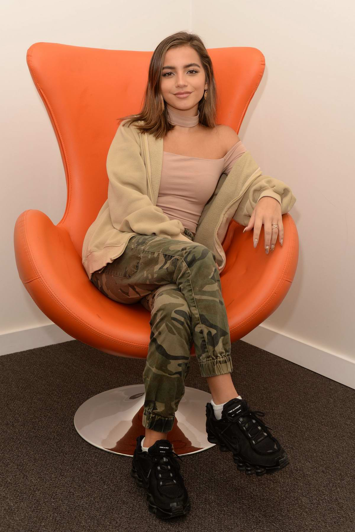 Isabela Moner visits HITS 97.3 radio in Hollywood, Florida