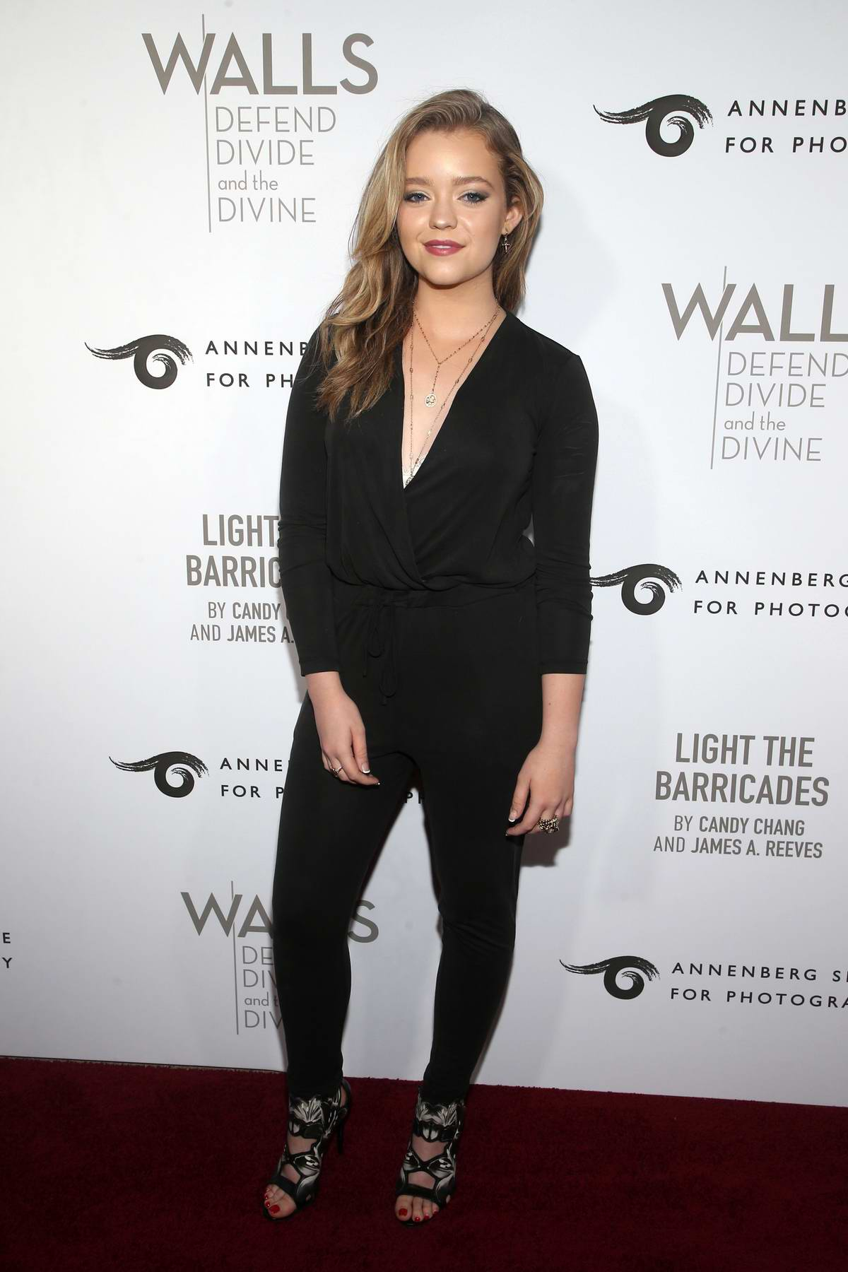 Jade Pettyjohn attends the Annenberg Space For Photography's WALL's: Defend, Divide And The Divine Exhibit Opening in Century City, California