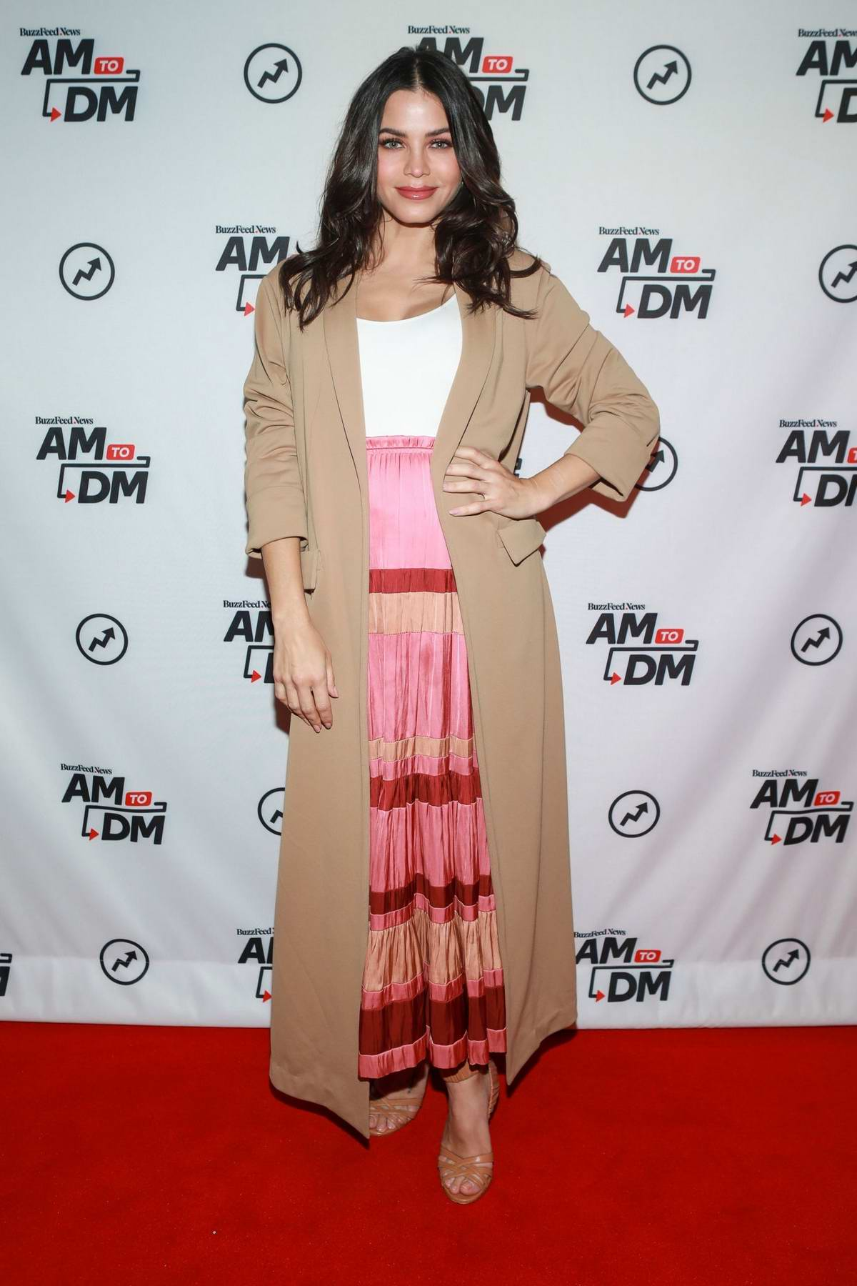 Jenna Dewan visits BuzzFeed's 'AM To DM' in New York City