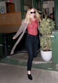 Jennifer Lawrence and Cooke Maroney are seen leaving King Italian restaurant in New York City