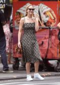 Jennifer Lawrence looks lovely in a floral print dress and white sneakers while out shopping at Bergdorf Goodman store in New York City